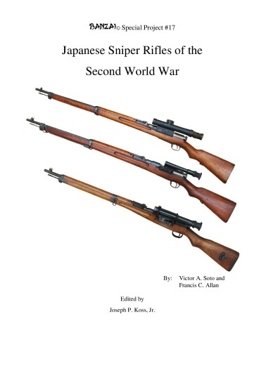 Japanese Sniper Rifles of the Second World War
